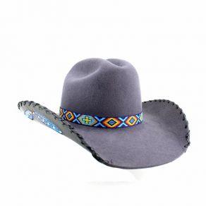 Chapéu Eldorado Lã Exclusivo Grafite Pena EC321