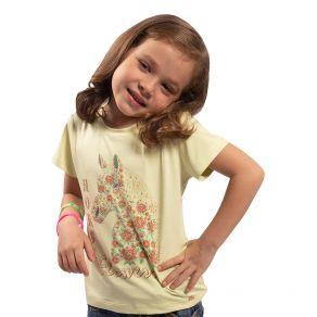 T-Shirt Miss Country Feminina Infantil Valente Verde Ref. 707