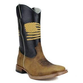Bota Mr West B-75 USA Ouro F. Mostarda CM Preto M.W 187