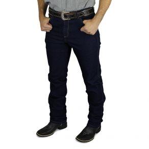 Calça Barreira Masculina Elastano Jeans Escuro