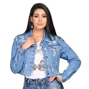 Jaqueta Buphallos Feminina Bordada Ref. 9985