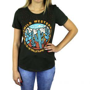 T-Shirt Z.H.W Feminina Cactus Verde