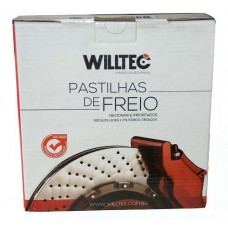 Pastilha Freio Traseira Willtec - Honda City/ Civic/ Prelude PW746