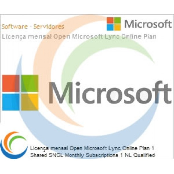 Licença mensal Open Microsoft Lync Online Plan 1 Shared SNGL Monthly Subscriptions 1 NL Qualified [QLFD] Annual