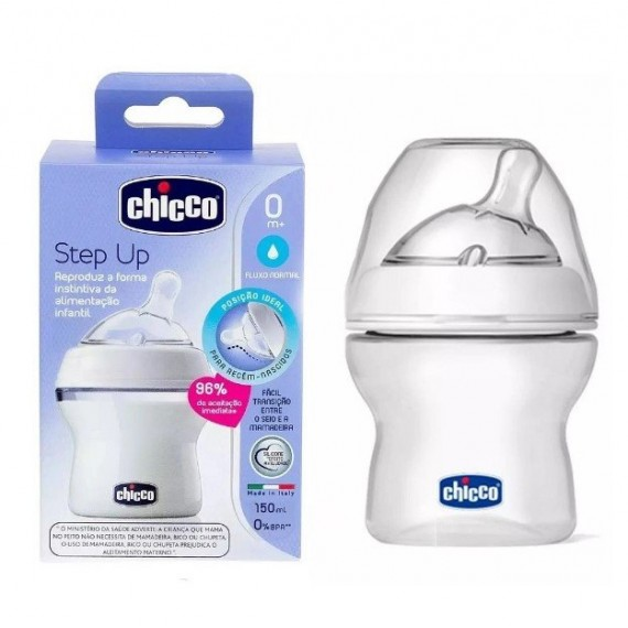 Mamadeira Step Up 150 ML Fluxo Normal 0M+ Chicco
