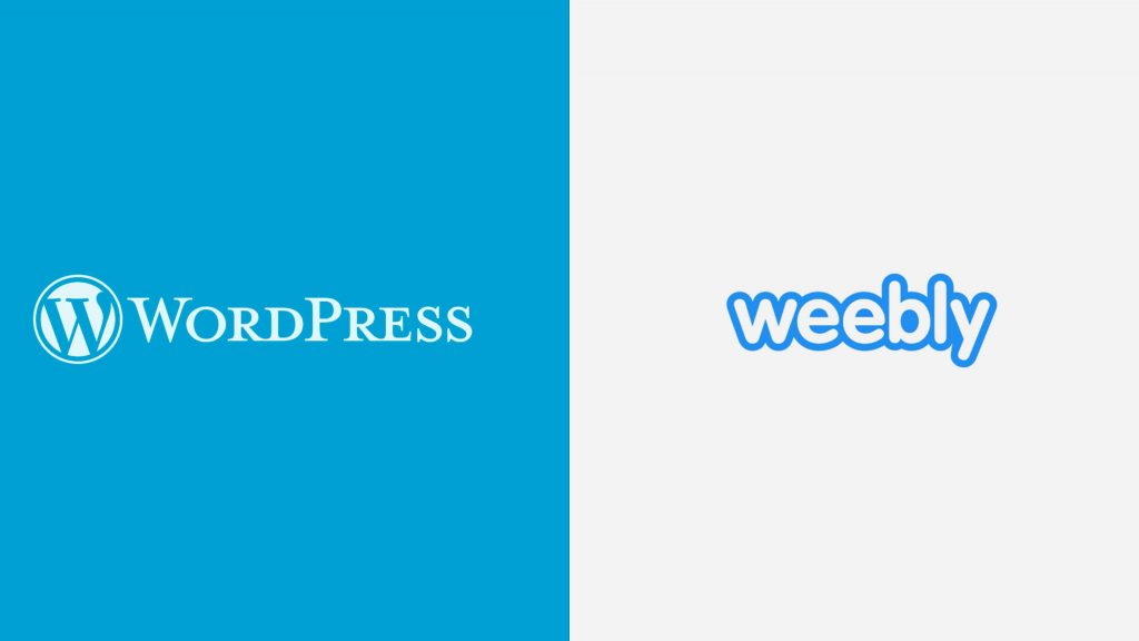 logos do weebly e wordpress