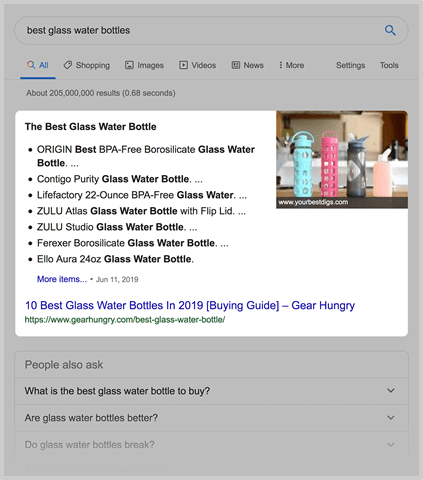snippets google