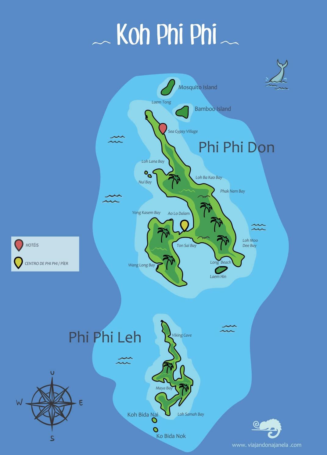 Mapa de Phi Phi Island