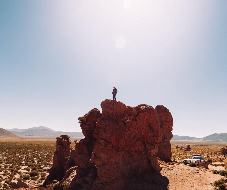 Chile Bolívia Peru - Roteiro Mochilão - Valle de Rocas (Travessia do Uyuni)