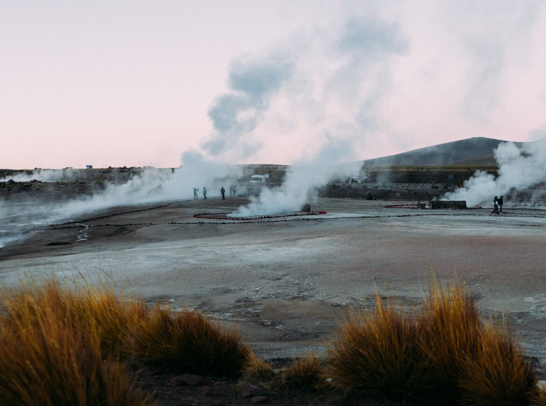 Geysers el Tatio - geysers em atividade