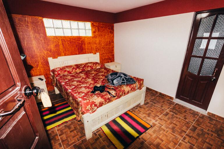 Nosso quarto no Hotel Aguilar