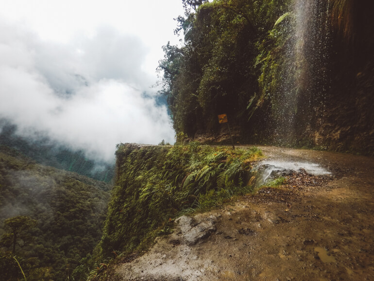 queda d'agua Estrada da Morte, Bolívia