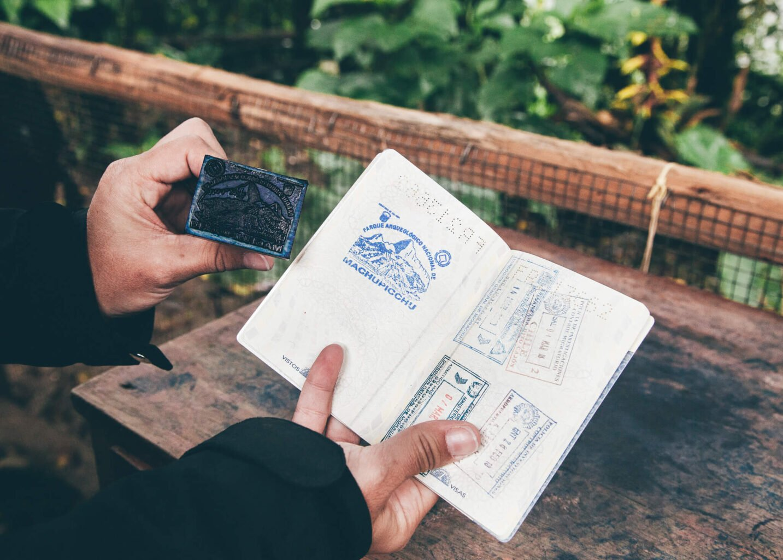 Carimbando o passaporte!