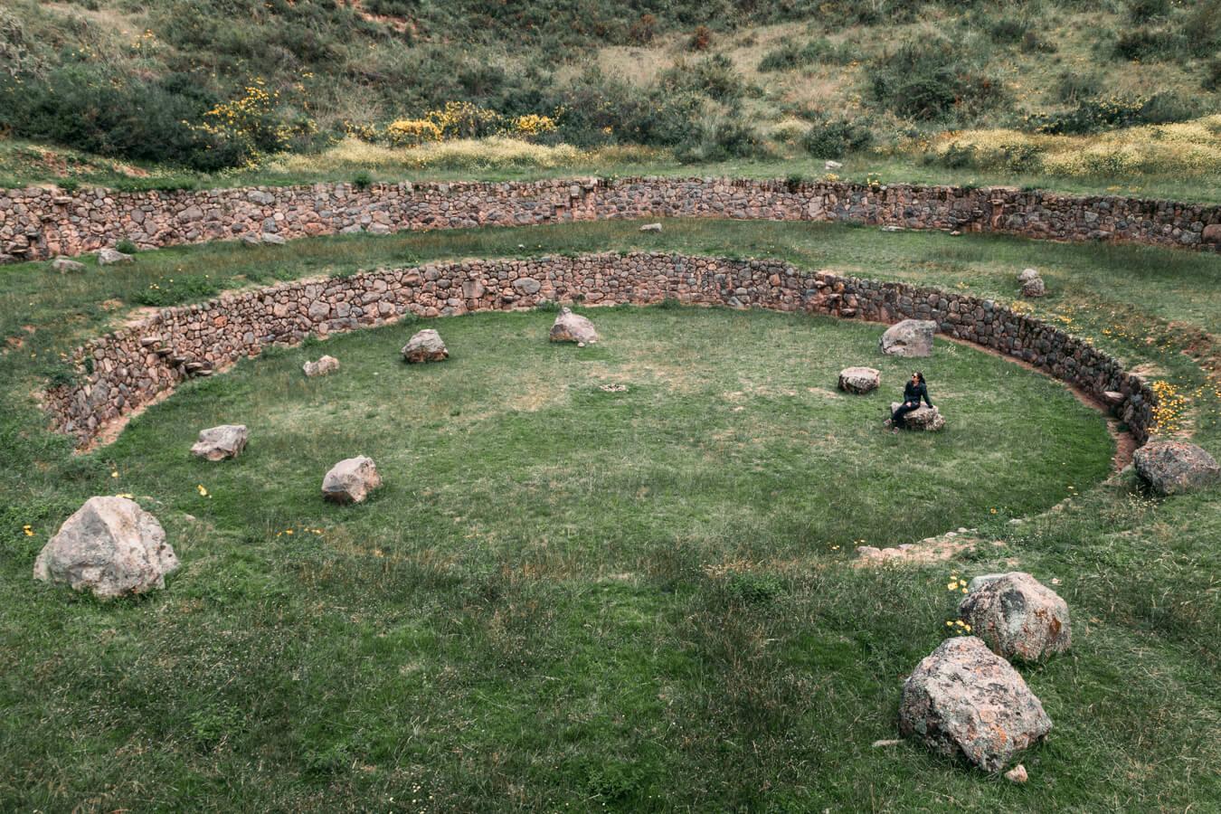 Construções incas em Moray