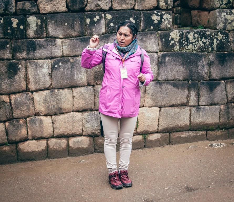 Guia que contratamos em Machu Picchu