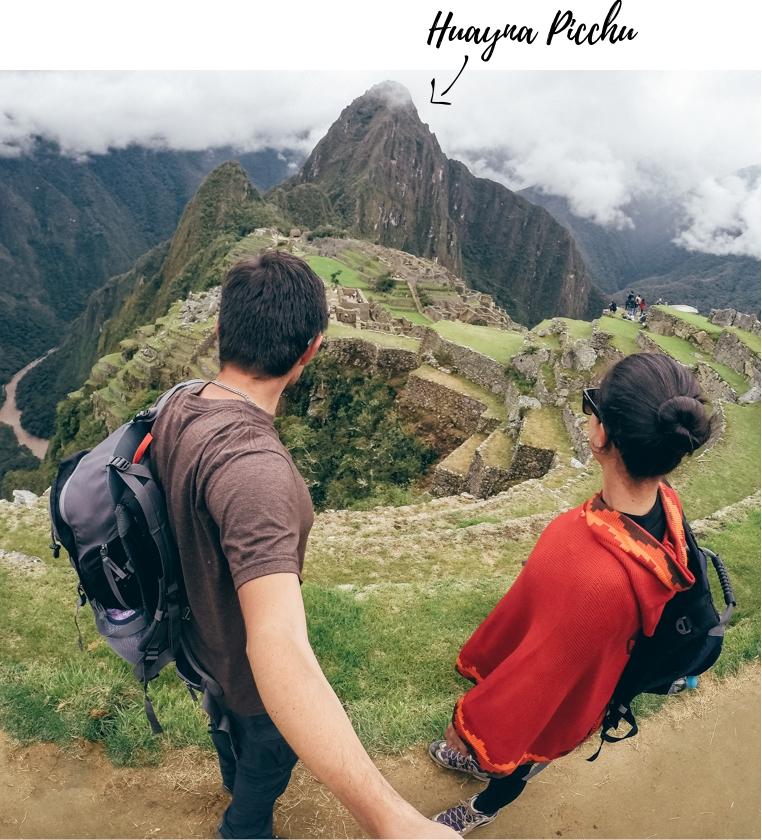 Destaque para a montanha Huayna Picchu