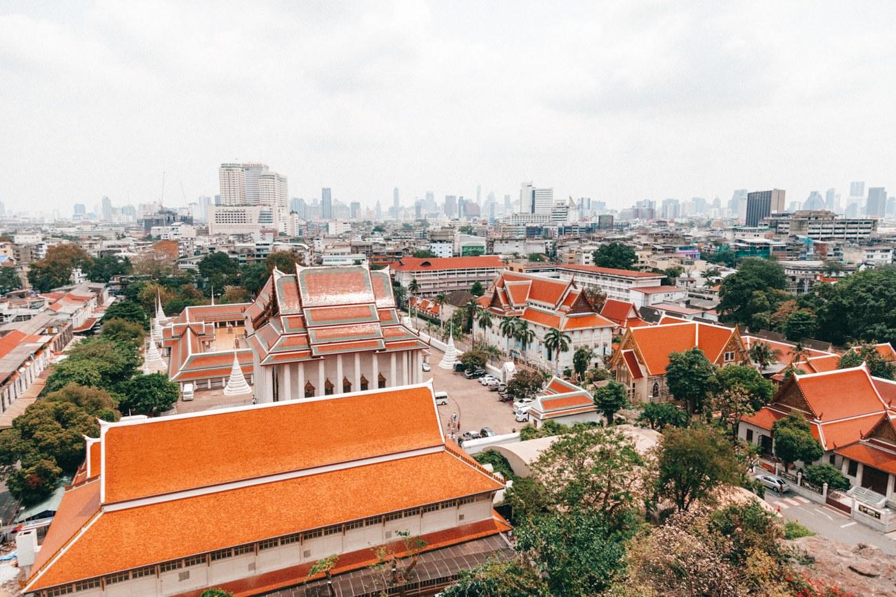O que fazer em Bangkok - Vista do alto do Wat Saket ou Templo da Montanha Dourada