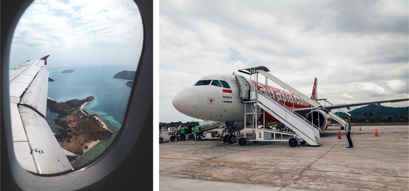 Komodo Indonésia - como chegar - voo - avião - airasia
