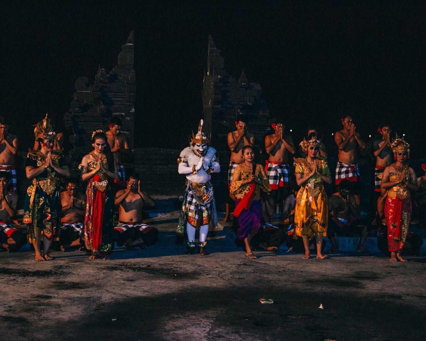Kecak Dance, Uluwatu, Bali, Indonésia -