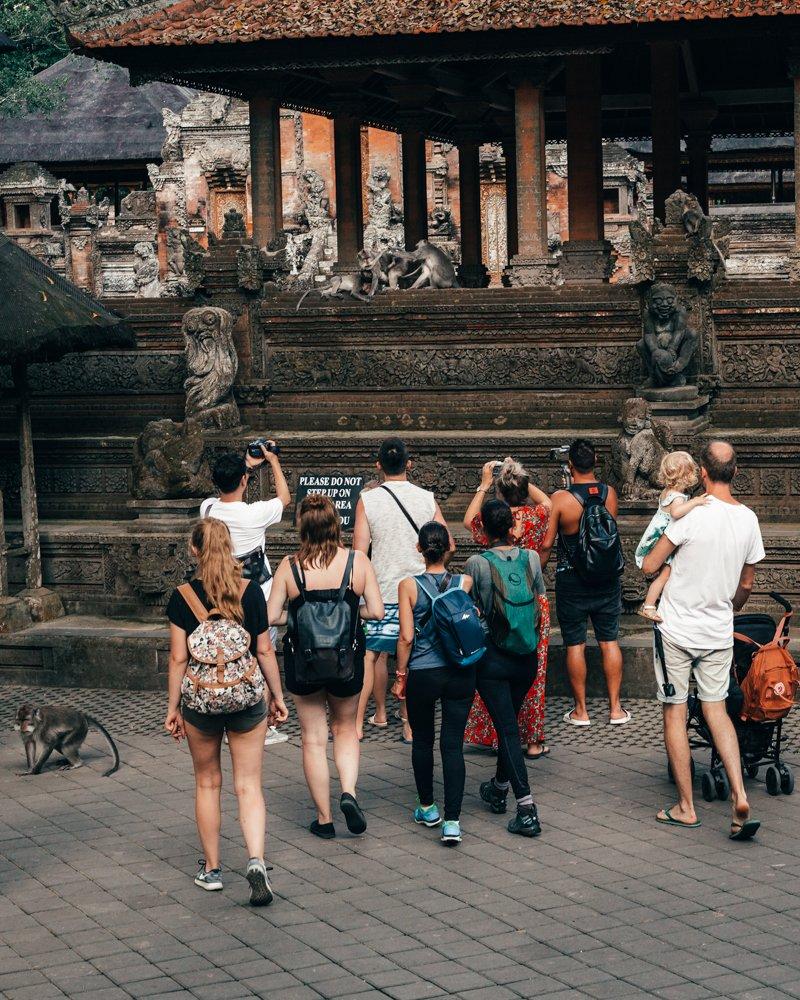 Monkey Forest, Ubud, Bali, turistas