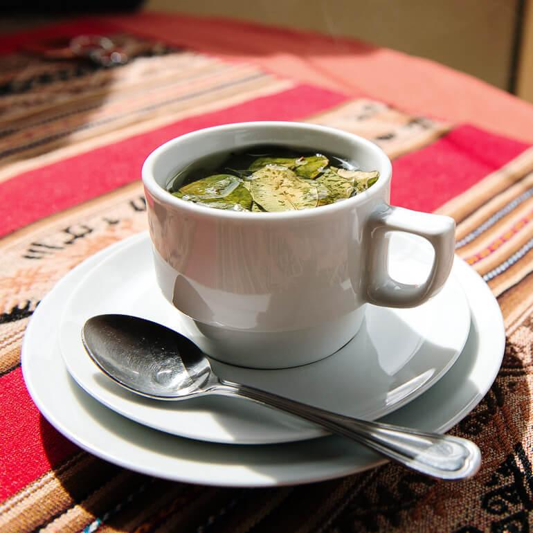Bebida peruana - chá de coca (Bebida típica do Peru)