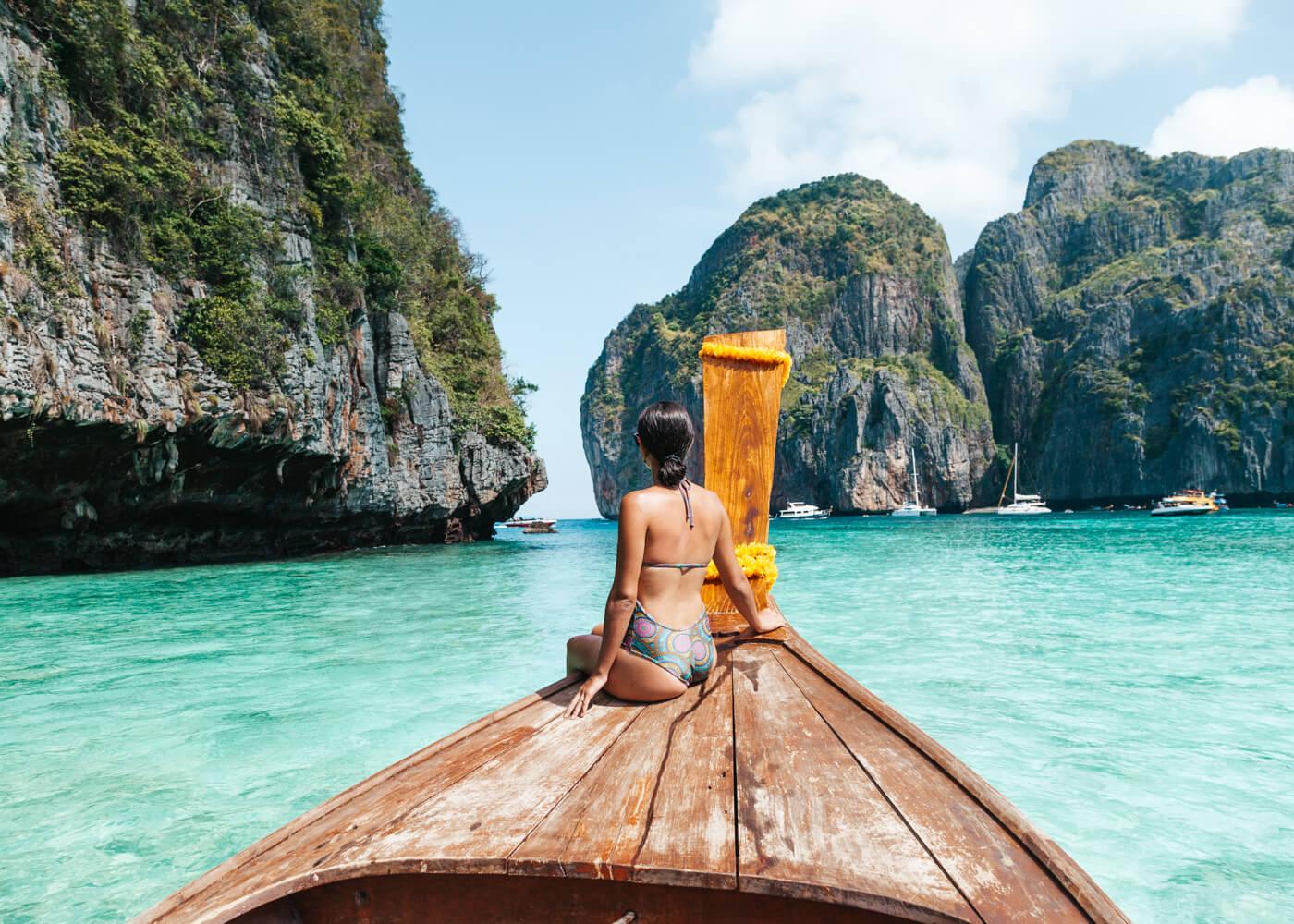 Koh Phi Phi, um dos lugares mais bonitos da Tailândia