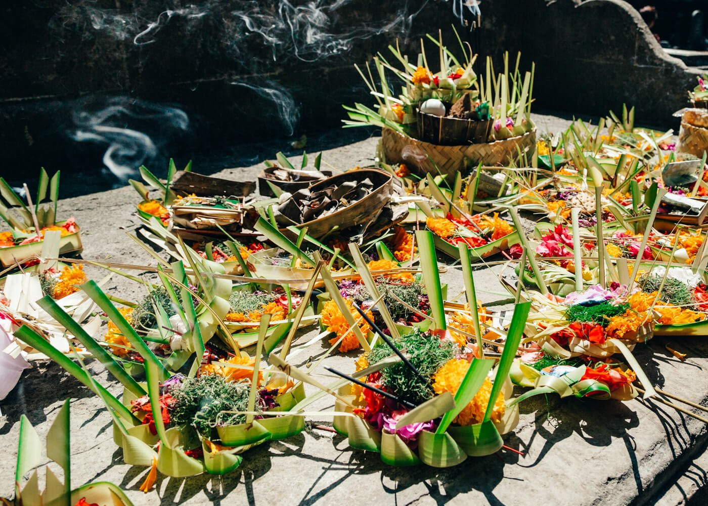 Templo Tirta Empul - Ubud - Bali - Indonésia | Oferendas