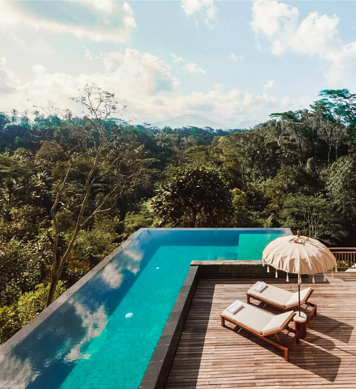 Onde ficar em Bali - hotel komaneka em Ubud
