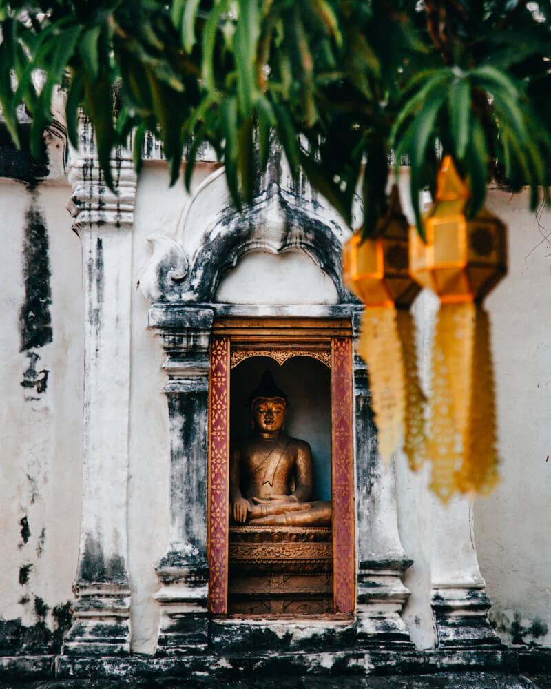 Ching Mai, Tailândia - estátua de Buda