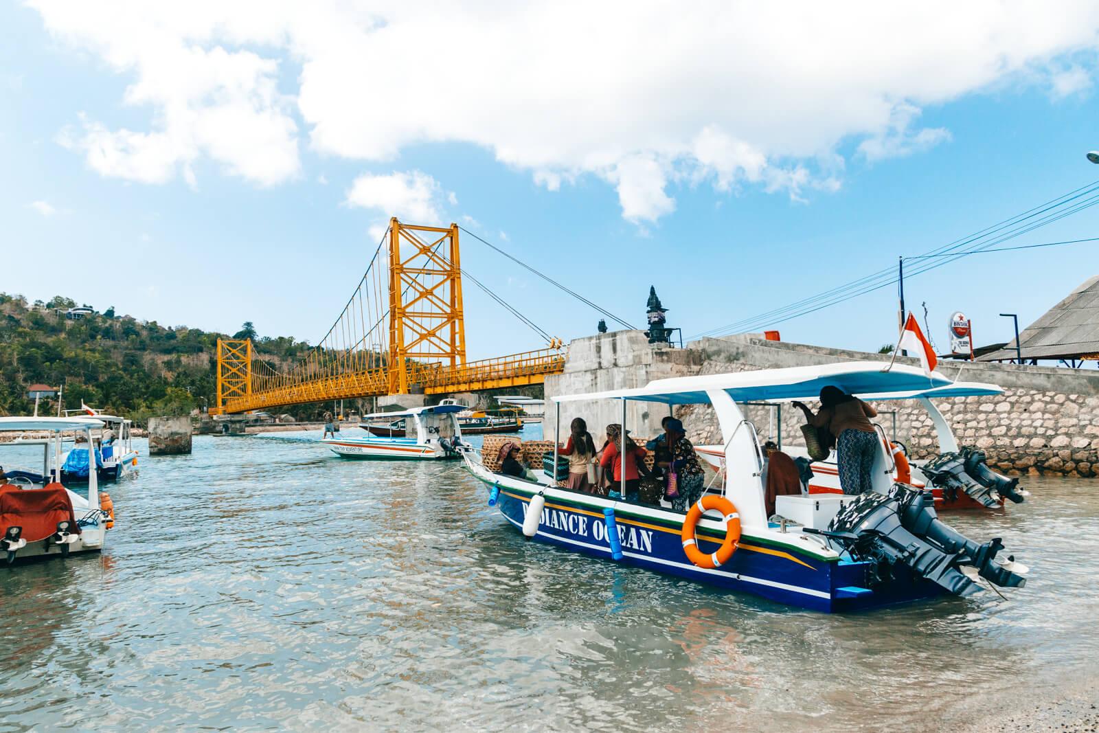 Nusa Ceningan e Nusa Lembongan - ponte amarela / yellow briget