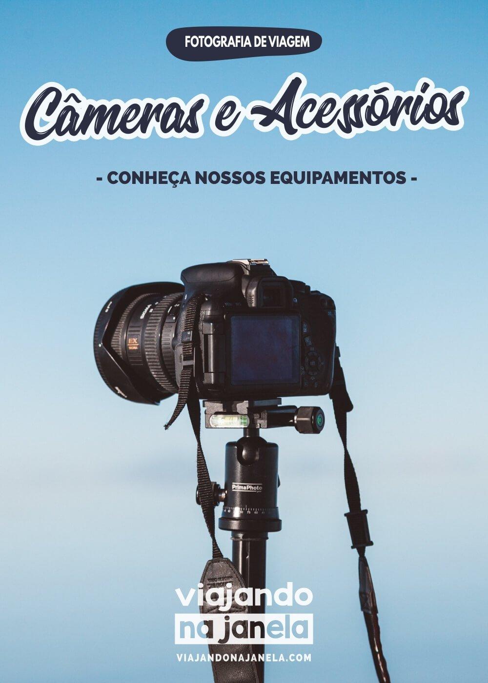 Equipamentos fotográficos - fotografia de viagem - pin
