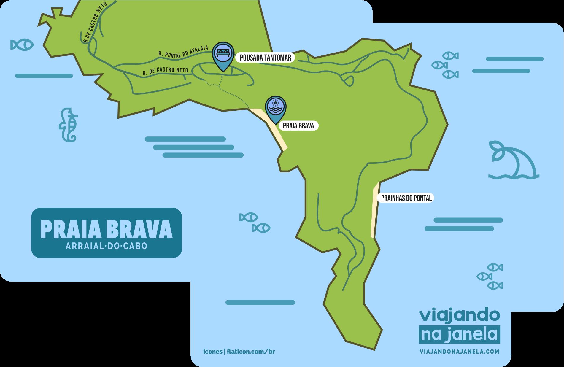 Arraial do Cabo: Como chegar na Praia Brava