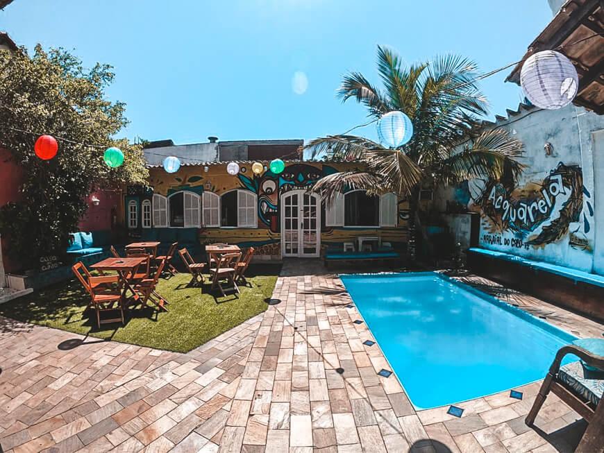Acquarela Hostel - onde ficar em Arraial do Cabo