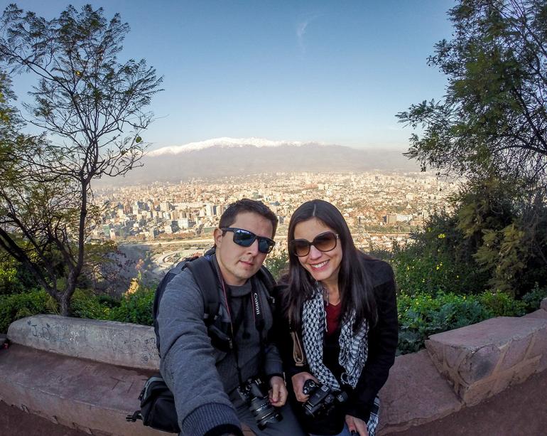 Cerro San Cristobal - Viajando na Janela