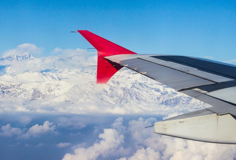 Vista da Cordilheira dos Andes.