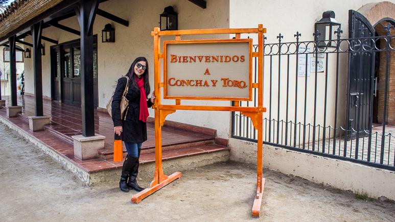 entrada da vinícola Concha y Toro - Viajando na Janela