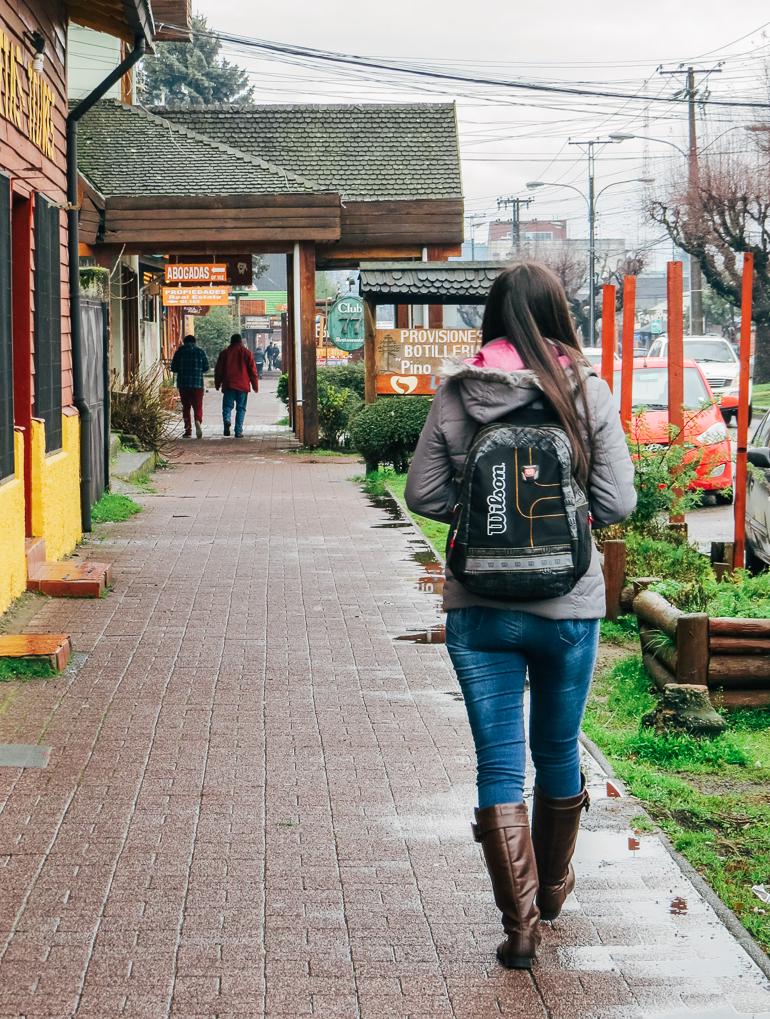 Caminhando pelas ruas de Pucón