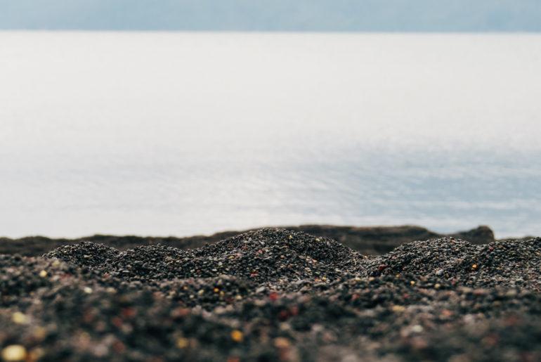areia negra em Pucón