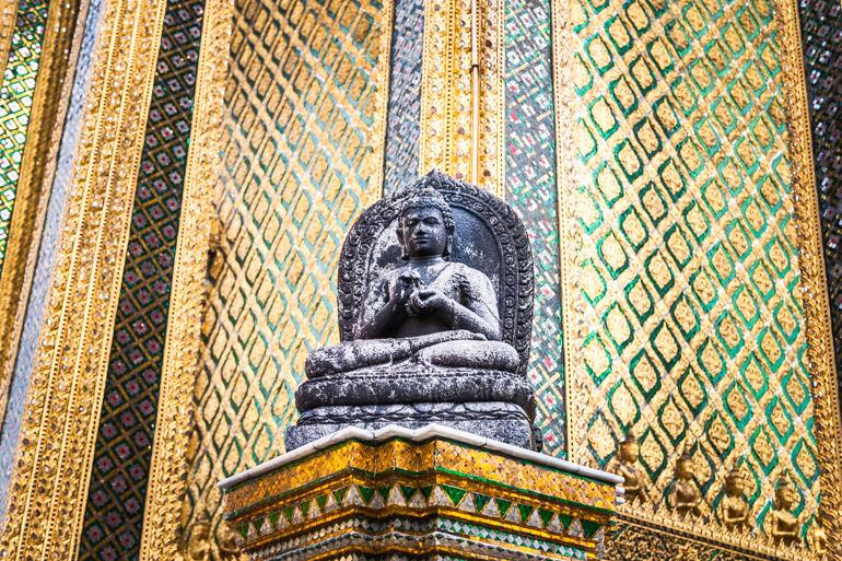 Detalhe no Grand Palace, em Bangkok