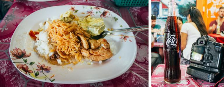 Almoço oferecido pela agencia durante o tour para Ayutthaya