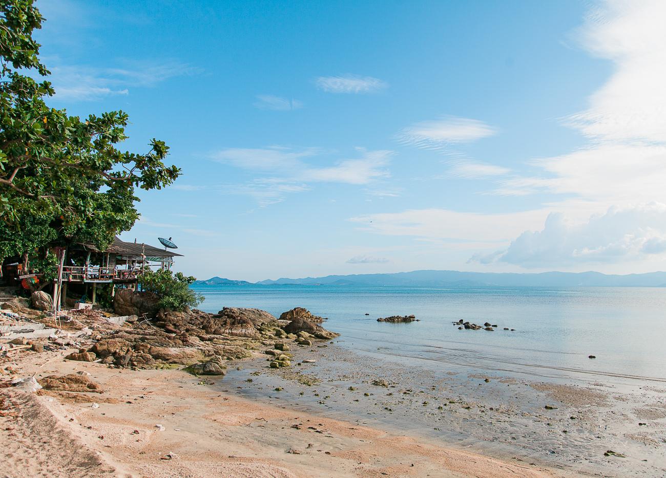 Praia em Koh Phangan
