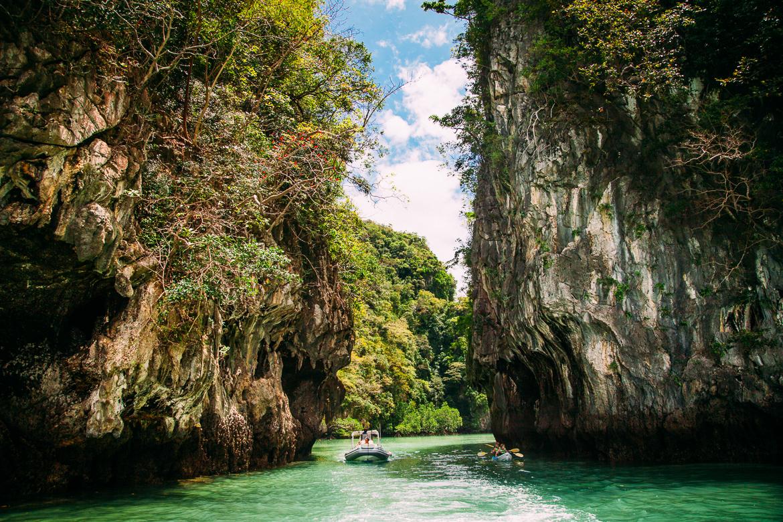 Entrada da misteriosa Hong Lagoon