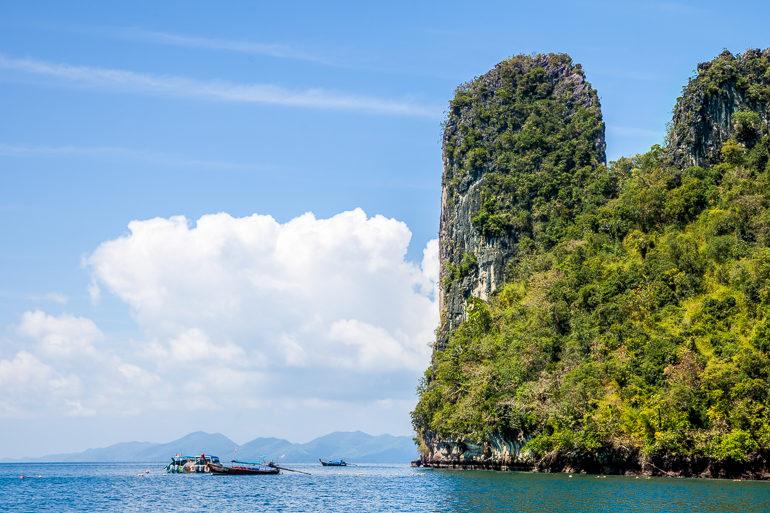 paredões de calcario em hong island