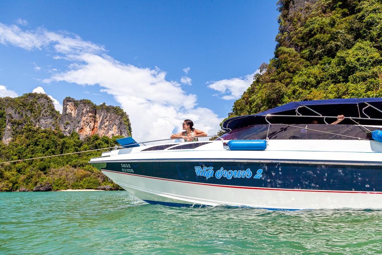 Speedboat em Hong Island