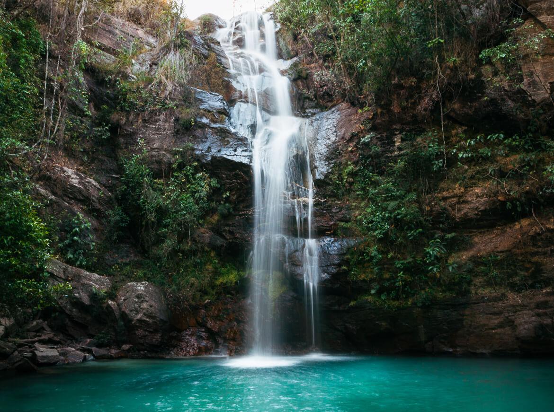 Cachoeira Santa Bárbara - uma das mais famosas da Chapada dos Veadeiros