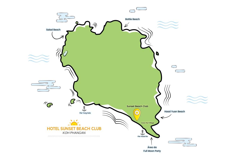Mapa de Koh Phangan | Viajando na Janela