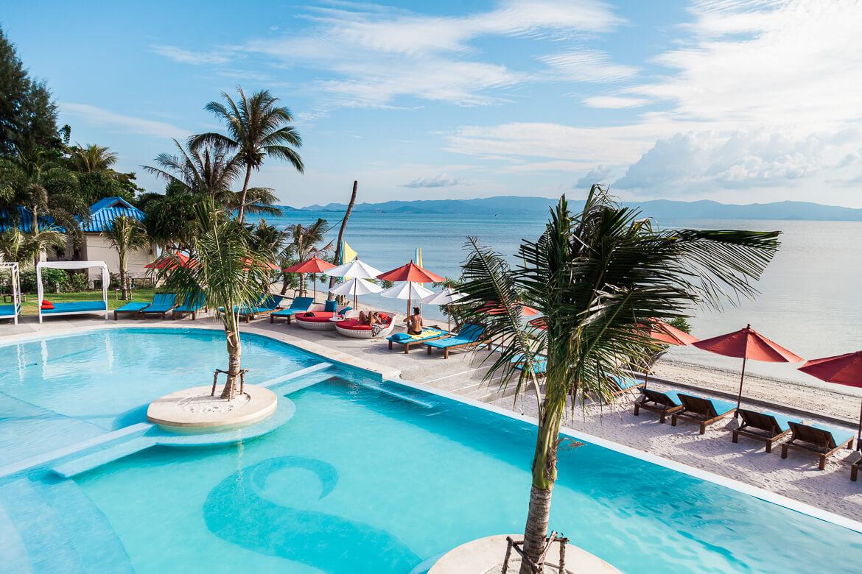 piscina-sunset-beach-hotel-em-koh-phangan-tailandia