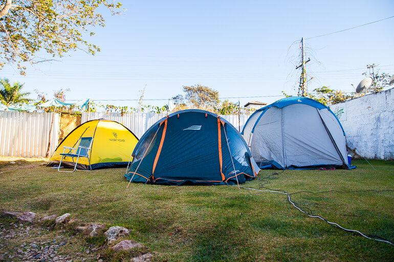 Camping Viveiro - barracas montadas