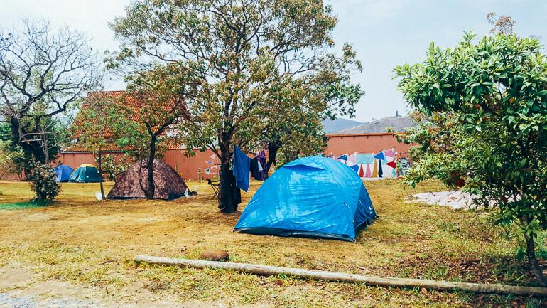 Área de camping (existem dois espaços para montar acampamento)