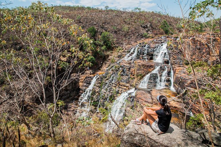 Cataratas dos Couros - mirante para a Cachoeira São Vicente
